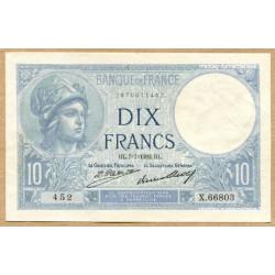 10 Francs Minerve 7-7-1932 X.66803