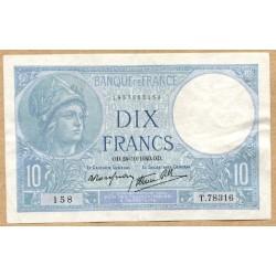 10 Francs Minerve 24-10-1940 T.78316