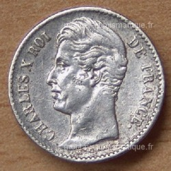 1/4 de Franc Charles X 1827 B Rouen