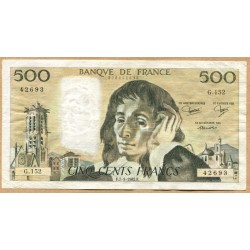 500 Francs Pascal 7-1-1982 G.152