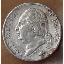 2 Francs Louis XVIII 1823 W Lille
