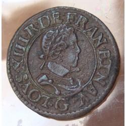 Louis XIII Double tournois 1620 G Poitiers