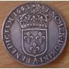 Louis XIII 1/2 Ecu 1643 A rose petit buste 2 eme poinçon de warin
