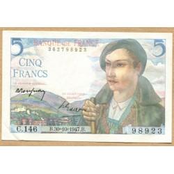 5 Francs Berger 30-10-1947 C.146