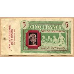 5 Francs Bon de Solidarité P. Pétain