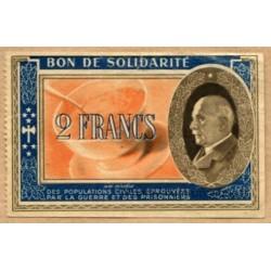 2 Francs Bon de Solidarité P. Pétain