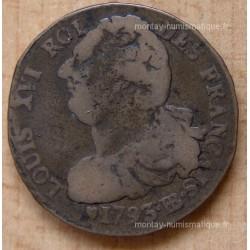 2 Sols Français 1793 BB