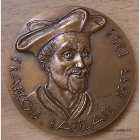 Médaille RABELAIS François ( ND 1953) Commémorative par R. Joly