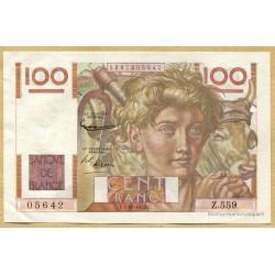 100 Francs Paysan 1-10-1953 Z.559 Filigrane inversé