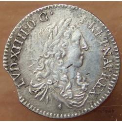 Louis XIV 1/12eme Ecu Buste Juvénile 1664 Aix