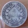 5 Francs Napoléon I 1808 BB Strasbourg. République Française