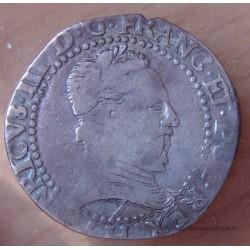 Henri III Demi Franc 1578 H La Rochelle Col plat