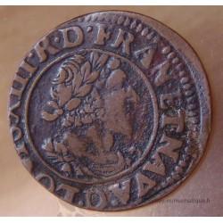 Louis XIII Double tournois 1631 D Lyon