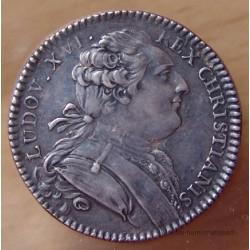 Jeton Louis XVI Notaires royaux de Soissons ND