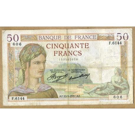 50 Francs Cérès 13-5-1937 F.6144