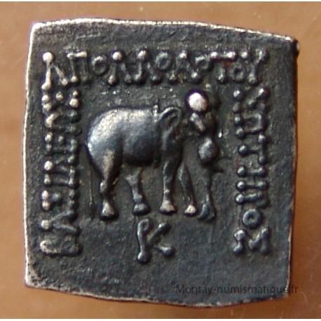 Bactriane Drachme carré Apollodote I er 170 AC