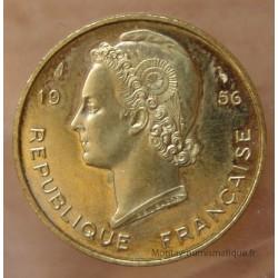 AOF 10 Francs 1956 ESSAI Afrique de l'Ouest