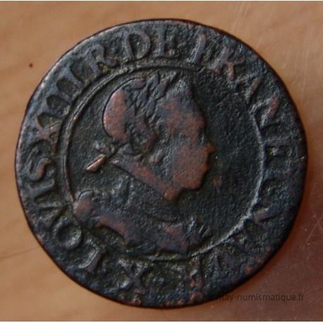 Louis XIII Double tournois 1614 X Amiens