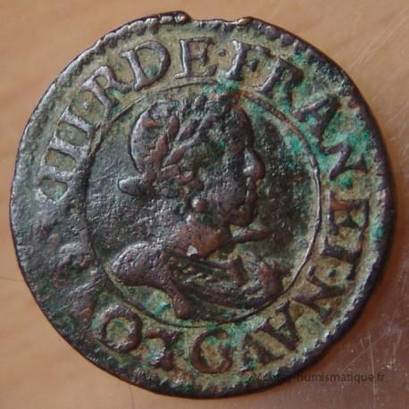Louis XIII Double tournois 1619 G Poitiers