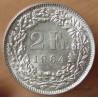 Suisse 2 Francs 1964 B Berne