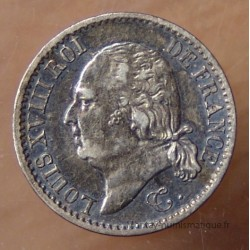 1/4 de Franc Louis XVIII 1817 W Lille