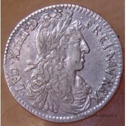 Louis XIV 1/12eme Ecu Buste Juvénile 1662 N Montpellier