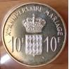 Monaco 10 Francs 1966 Xe Anniversaire Mariage
