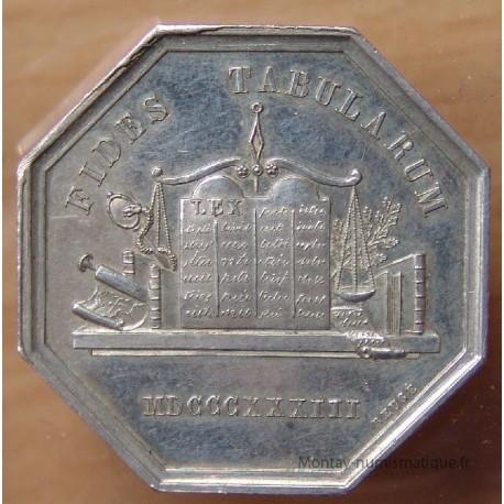 Jeton Notaires de Doullens 1833