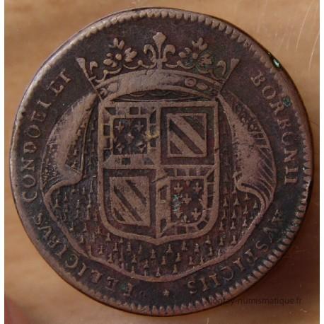 Jeton Etats de Bourgogne 1694 Le prince de Condé et son fils le duc de Bourbon