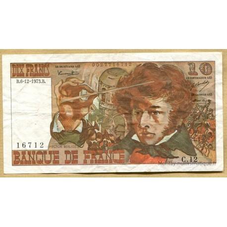 10 Francs Berlioz 6-12-1973 C.12