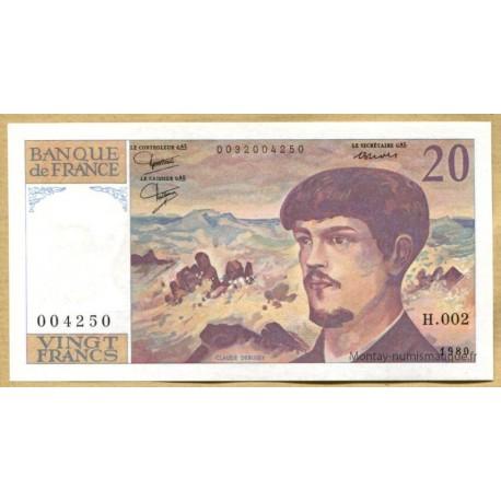 20 Francs Debussy 1980 H.002