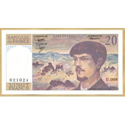20 Francs Debussy 1981 U.008