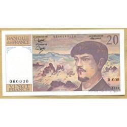 20 Francs Debussy 1982 R.009