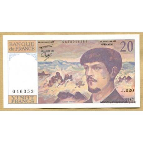 20 Francs Debussy 1987 J.020