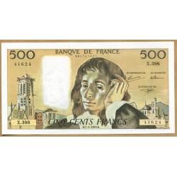500 Francs Pascal 7-1-1993 X.398