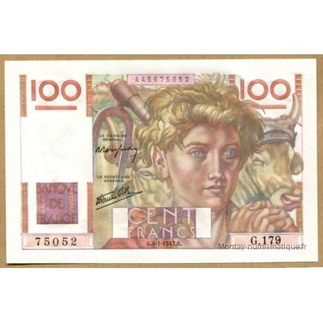 100 Francs Paysan 9-1-1947 G.179