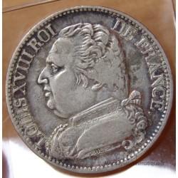 5 Francs Louis XVIII 1814 K Bordeaux buste habillé
