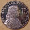 MONACO Médaille Prince Honoré II (1597 - 1662) ND ( 1975).