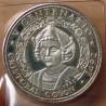 CUBA 10 Pesos 1990 Christophe Colomb, 500 ème Anniversaire - Découverte de l'Amérique.