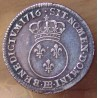 Louis XV 1/10 ème d' Ecu Vertugadin 1716 BB Strasbourg
