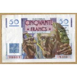50 Francs Le Verrier 8-4-1948 Y.110