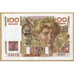 100 Francs Paysan 3-4-1952 A.439