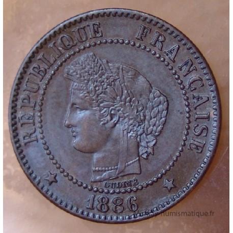 2 Centimes Cérès 1886 A Paris