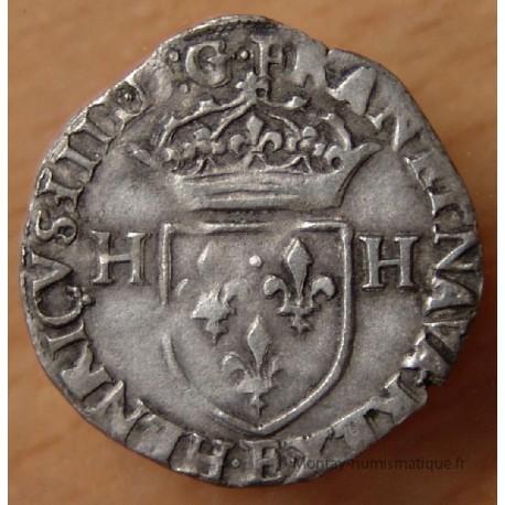 Henri IV Douzain aux 2 H 1594 E Tours