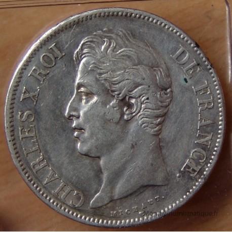 5 Francs Charles X 1827 B Rouen