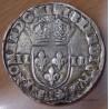 Henri III Quart Ecu croix de face 1588 L Bayonnes