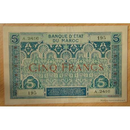 Maroc -5 Francs ND (1924) A.2416