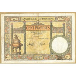 "Indochine Française 100 Piastres ""DUPLEIX"" type 1927"