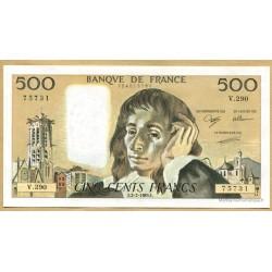 500 Francs Pascal 2-2-1989 V.290