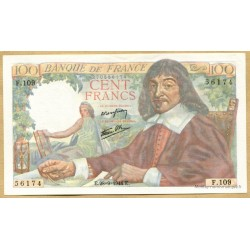 100 Francs Descartes 28-9-1944 F.109